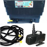 Pond Pump Tube/hose And Filter For 4500 Gallon Pond Water Garden Pond Combo Pack