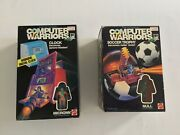 Computer Warriors Micronn Clock + Null Soccer Trophy 1989 Sealed Transforms