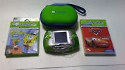 Leapfrog Leapster Learning Game System - Green With 2 Games And Carrying Case