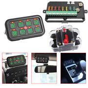 8 Gang On-off Switch Panel 12v 24v Electronic Relay System Car Boat Marine Truck