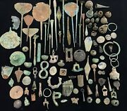 A Lot Of Ancient Romanand039s And Greekand039s Bronze Ornaments