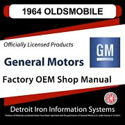 For Oldsmobile Cutlass 64 1964 1964 Oldsmobile Shop Manuals, Sales Data And Parts