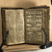 1738 Rare Hymnal And Psalms Chanting Book - Metalwork Leather Binding