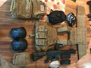 airsoft Gear Platecarrier, Electric Rifle, Fullauto Black Military Backpack