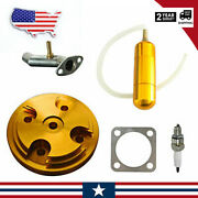 Cnc Yellow Cylinder Head Cover Power Boost Bottle Fit 80cc Motorized Bicycle