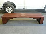 Superb Modernist Architectural Intersecting Wood Slatted Bench