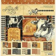 Graphic 45 Farmhouse 12x12 Paper Pack Animals Farming Scrapjackand039s Place