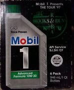 6x Case- Mobil 1 Engine Oil,1997 Brooks And Dunn 10w-30, Synthetic Sealed Free Shp