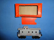 Lionel Postwar 6017-185 A.t.and S.f. Gray Painted Caboose With Original Box.