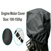 100 - 150 Hp Boat Outboard Motor Engine Cover Fit Universal Trailerable Black