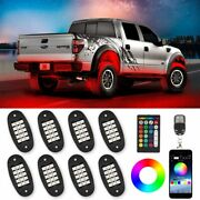 Rgb Offroad Led Rock Light 8 Pods Waterproof Bluetooth Music Control For All Car