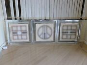 70and039s Paul Maxwell Triptych Op Art Wall Art Stencil Castings Signed