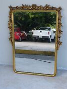 The Perfect Early 20th C Vintage Gold Gilt Mirror Of Roses On A Vine 4 Bathroom