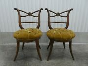 Pair Of True 1940's High Style Hollywood Regency Greek Inspired Side Chairs