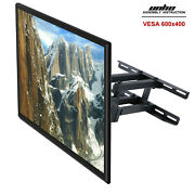 Heavy Duty Dual Arm Full Motion Tilt Tv Wall Mount Bracket 32-70 For Most Model