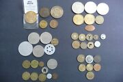Lot 45 Tokens 32 Different Maui Dollar, Beanie, Transit, Casinos,flags,animals