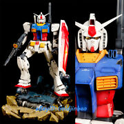 Wing Studio War Machine-as01 Rx-78 Statue Resin Model Painted In Stock Led Light