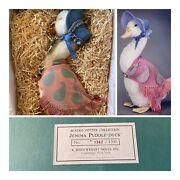 New R John Wrightand039s Jemima Puddle-duck Alpaca Jointed Neck Glass Eyes