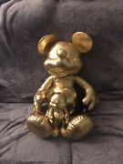 Disney Store Mickey Mouse Plush Gold Collection 90th Anniversary Large And Small