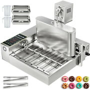 Commercial Automatic Donut Making Maker Machinewide Oil Tank6 Sets Free Mold
