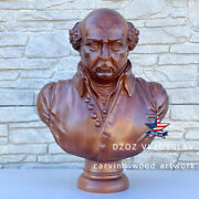 ❤️️john Adams President Bust❤️️wood Carved Sculpture Statue Figure