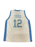 Phil Ford Signed North Carolina Tar Heels Unc 78 Wooden And 3x Aa Jersey Jsa
