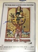Bolo Yeung Signed Movie Poster Enter The Dragon Bruce Lee