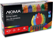 Noma Led Christmas Lights | 25-count C9 Multicolor Bulbs | 16' 8 String Light |