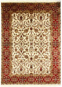 9x12 Hand Knotted Area Rug And039bhishaand039 Indian Traditional Vintage Beige New Carpets