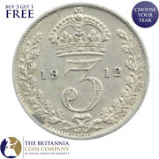 1911 To 1920 King George V Silver Threepence 3d - Choose Your Year