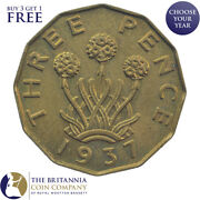 1937 To 1952 King George Vi Brass Threepence 3d - Choose Your Year