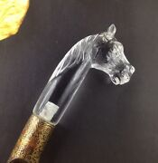 Antique Mughal Style Indian Rock Crystal Hand Craft Horse Had Dagger Collectible