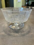 Vtg Lalique France Crystal Open Candy Dish Pedestal Compote Footed Dessert As-is