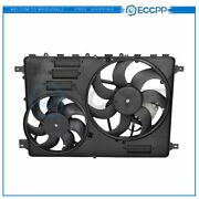 Electric Radiator Condenser Cooling Fan Assembly For 2008 2009 2010 Volvo V70