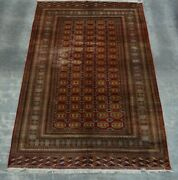 F2338 Antique Handmade Turkman Mour Gull Oriental Area Home Rug 6and0395 X 8and0392 Feet