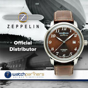 Zeppelin Lz127 Count Automatic Watch Miyota Movt 50m Wr Amber Dial 7656-3