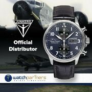 Junkers Mountain Wave Project Auto Chrono Valjoux 7750 Watch Blue Dial 6824-3