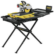 Dewalt D36000s 10 In. High Capacity Wet Tile Saw W/ Stand New