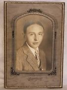 Vintage Photograph Anderson Indiana Studio Identified Young Man Jessie Sill