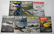 Flying Aces Age Aviation Air Magazine English Lot Of 7 Months 1944-1946 Vintage