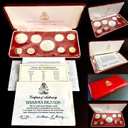 1973 Commonwealth Of The Bahama Islands Silver Proof Coin Set And Original Papers