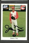 1996 Best 22 James Nix Chattanooga Lookouts Baseball Signed Autograph D12