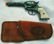 L@@k 🛑super Rare🛑working Daisy Pony Boy Diecast Cap Gun And Leather Holster