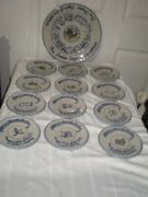 Rare Louisville Stoneware 12 Days Of Christmas Holiday Plate For Carole Stupell