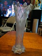 Rare And Gorgeous Antique Opalescence Carnival Glass Flower Vase
