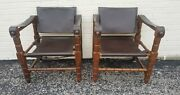 1 Of 2 Arne Norell Fashioned Safari Chairs Mobl 1960s Vintage
