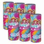 New Party Popteenies Lot Of 6 Mystery Party Surprise Popper Figures Party Favor
