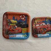Disney Cars 1st Movie 3d 8 Plates Each Birthday Party Supplies Decorations Vtg