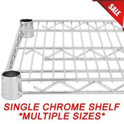 Any Size Single Chrome Wire Metal Shelf For Shelving Unit Rack Vented New