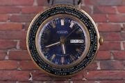 Raketa Cities World Time Ussr Vintage Mens Watch Gold Plated Watch /servised